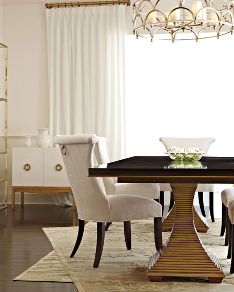 Bernhardt Jet Set Double Pedestal Table