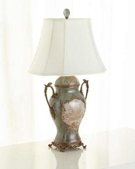 Oriental Danny Porcelain Trophy Lamp