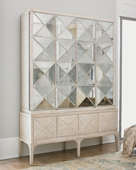 Ambella Haldis Mirrored Entertainment Cabinet