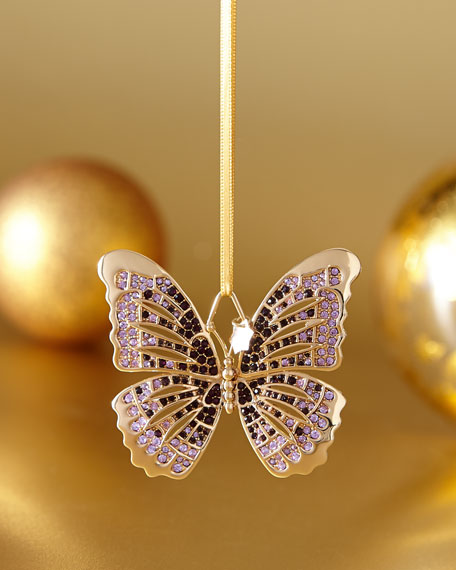 Purple Butterfly Ornament