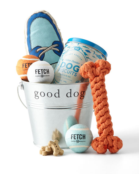 good dog pet toy bucket