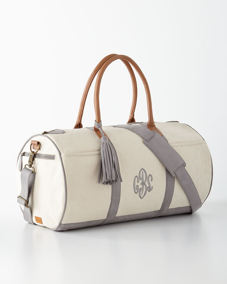 Gray Monogrammed Duffel Luggage