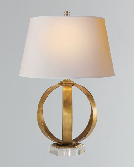 Visual Comfort Metal Banded Table Lamp