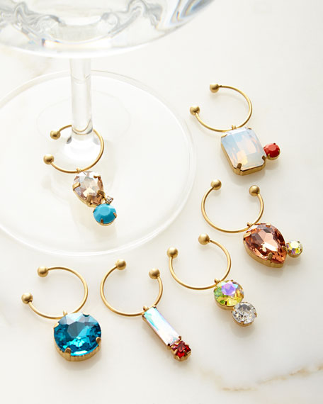 Wine Charms, 6-Piece Set