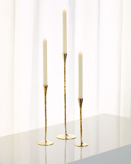 Faceted Pinched Candleholders, 3-Piece Set