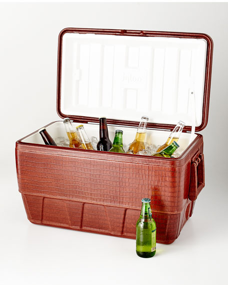 Lappas Stamped Leather Cooler