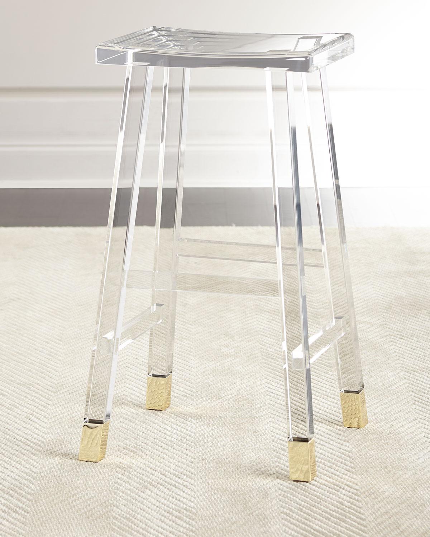 Interlude Home Dyer Acrylic Barstool Neiman Marcus