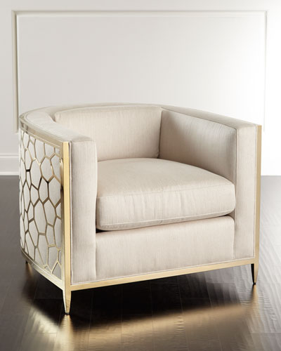 Golden Curved Chair