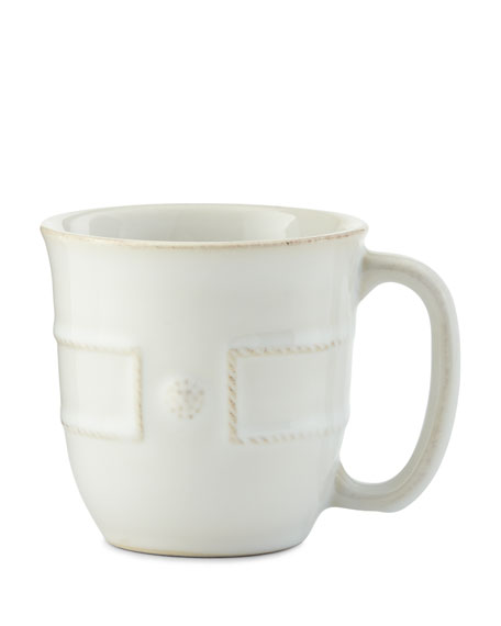 Juliska Berry & Thread French Panel Whitewash Cofftea Cup