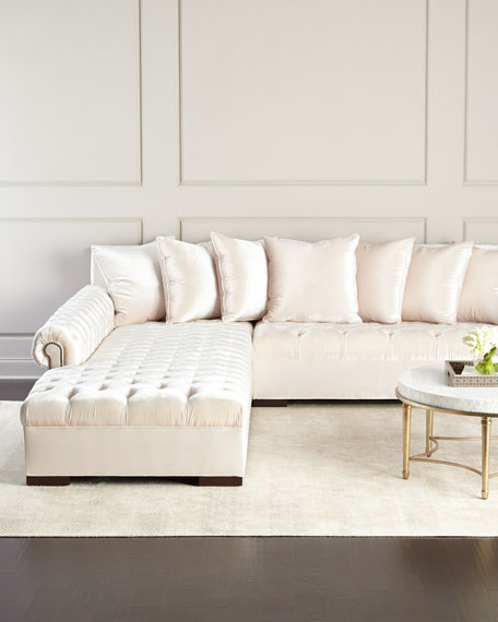 """Haute House Divine Tufted Left Chaise Sectional 157"""""""