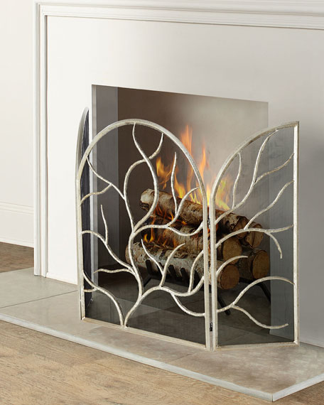 silver elm fireplace c west screen products