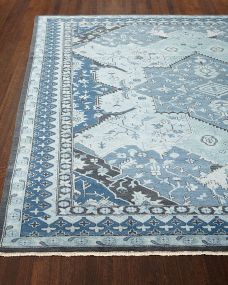 Image 2 of 3: Ralph Lauren Home Reynolds Blue Rug, 9' x 12'