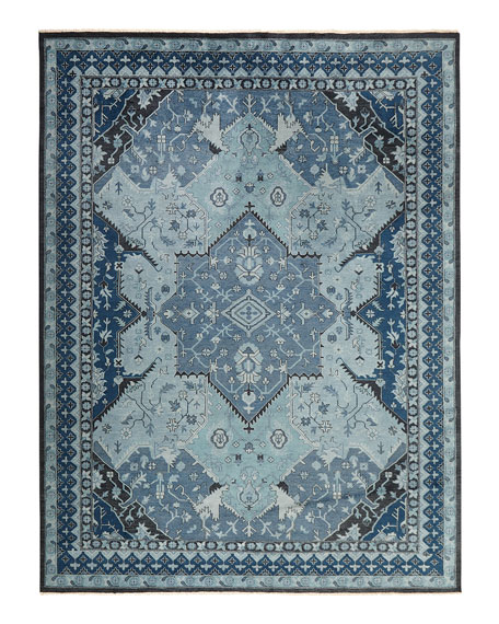 Image 3 of 3: Ralph Lauren Home Reynolds Blue Rug, 9' x 12'