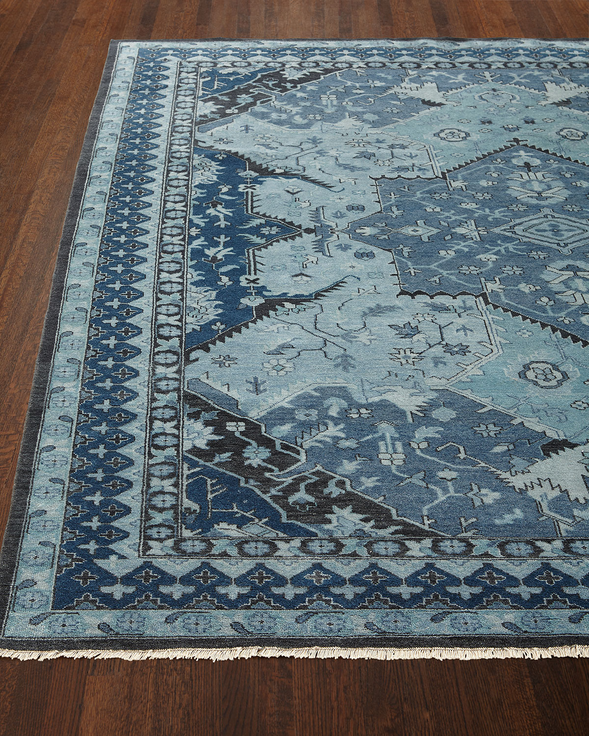 Ralph Lauren Home Reynolds Blue Rug, 9' x 12'