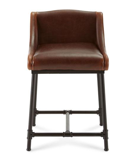 Fairfield Leather Counter Stool
