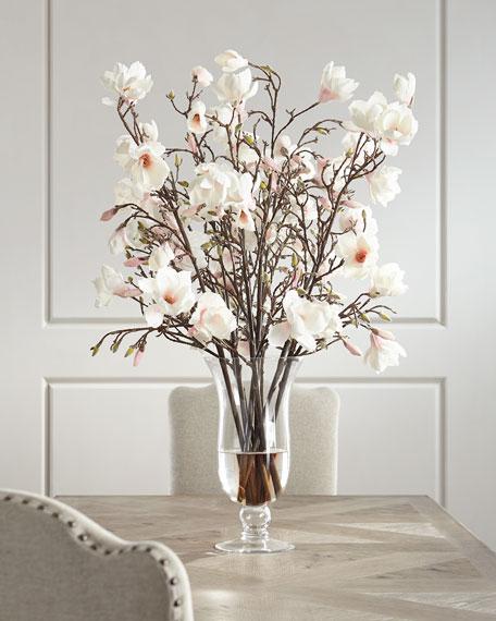 Japanese Magnolia Faux-Floral Arrangement