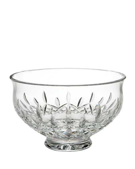 "Waterford Crystal Lismore 10"" Footed Bowl"
