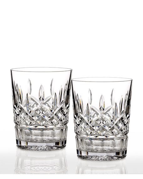 Lismore Clear Double Old-Fashioneds, Set of 2