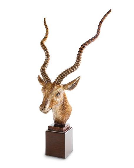 Antelope Head Figurine