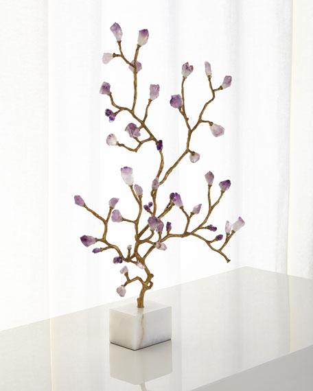 John-Richard Collection Amethyst Branch Sculpture