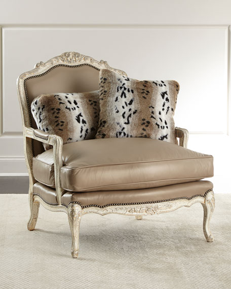Dusk Leather Bergere Chair
