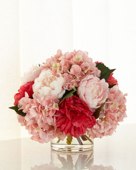 John-Richard Collection Pink Ice Faux-Floral Arrangement