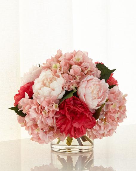 Pink Ice Faux-Floral Arrangement