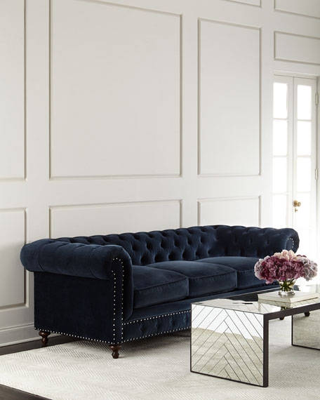Tia 3-Cushion Chesterfield Sofa
