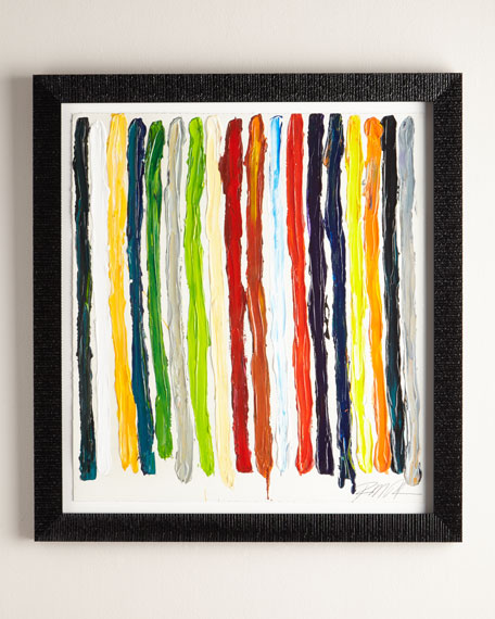 """""""All of My Colors Stripes"""" Giclee on Paper Wall Art"""
