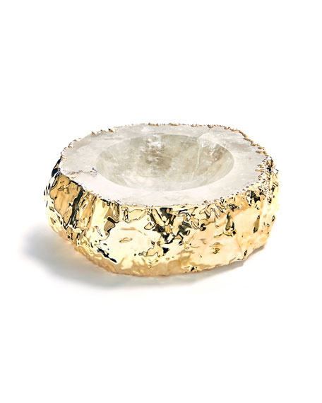 ANNA by RabLabs Cascita Crystal & Gold Bowl