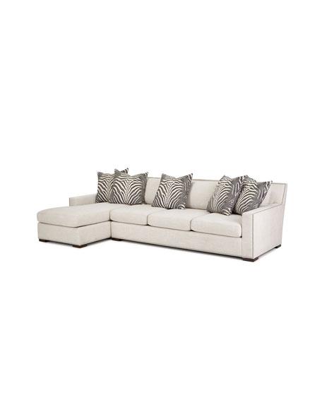 Massoud Zanzibar Left Chaise Sectional Sofa