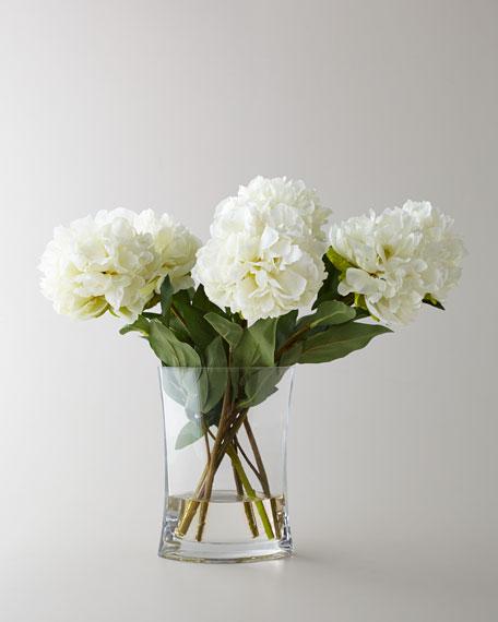 Heavenly Peonies Faux Floral Arrangement