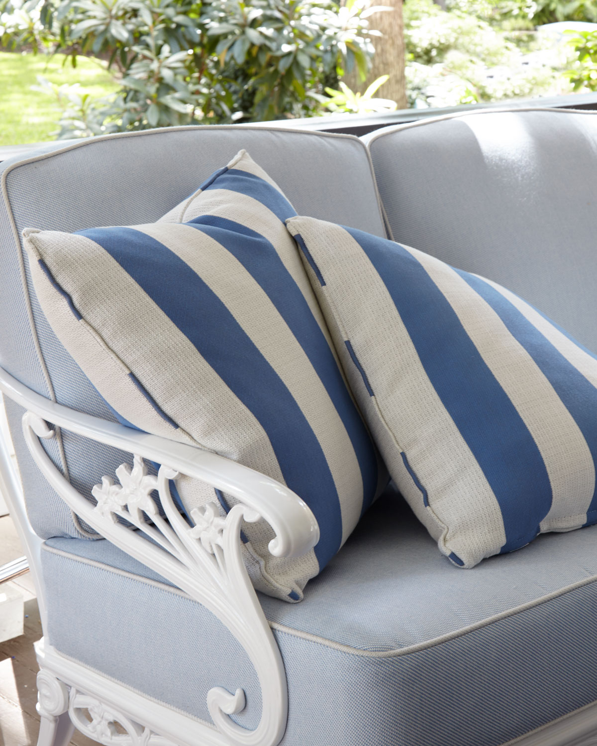 Brown Jordan Stripe Outdoor Pillow Neiman Marcus