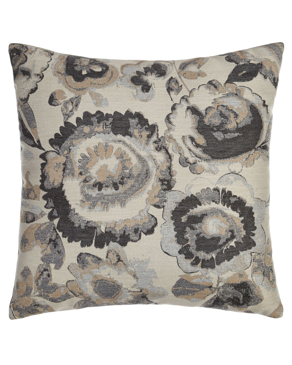 Smoky Fl Outdoor Pillow