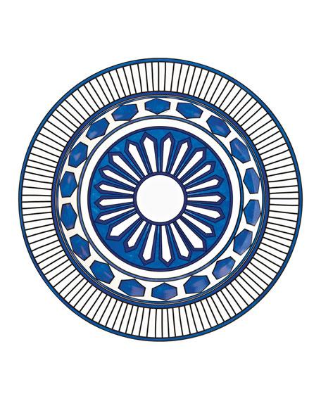 Hermès Bleus D'Ailleurs Large Deep Round Platter