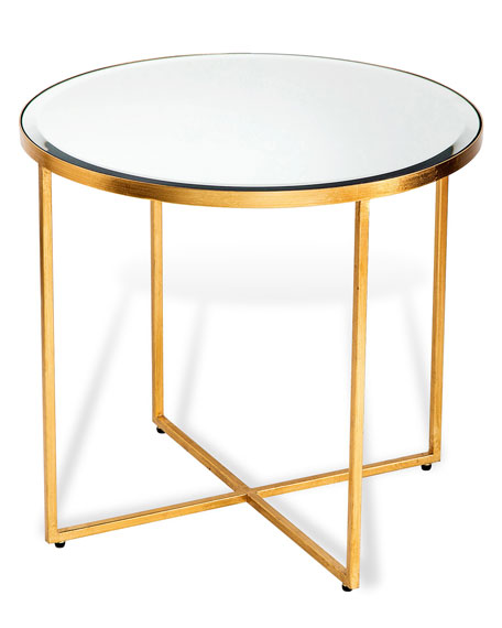 MARISSA GOLD LEAF SIDE TABLE