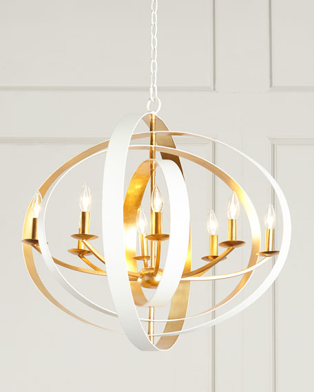 Crystorama LUNA 8 LIGHT PENDANT 36X26 M