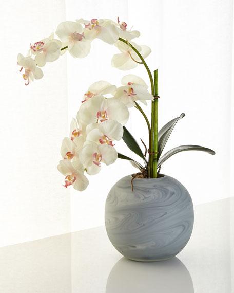 John-Richard Collection Slate and Diamonds Faux-Floral Arrangement