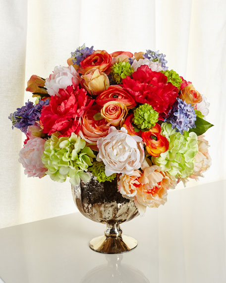 Image 1 of 2: John-Richard Collection Kaleidoscope Faux-Floral Arrangement
