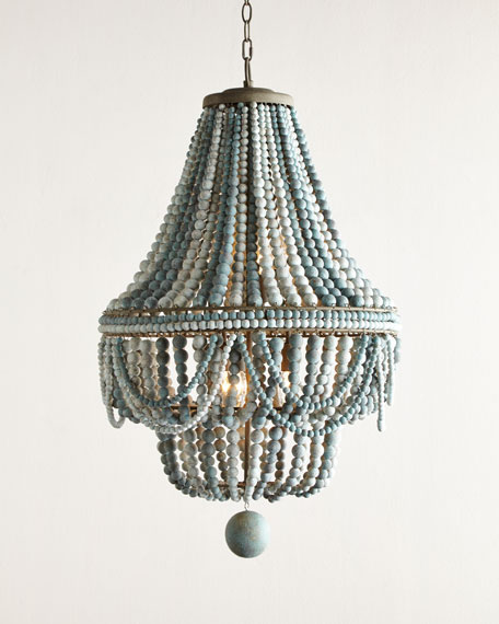 Malibu beaded 6 light chandelier