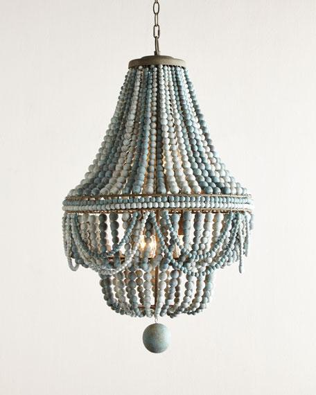 Regina andrew design malibu beaded 6 light chandelier neiman marcus malibu beaded 6 light chandelier aloadofball Image collections