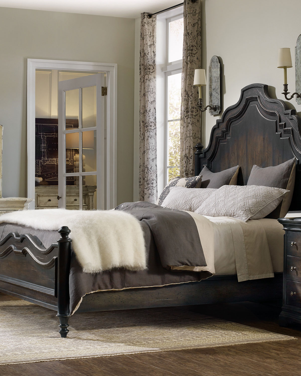 Hooker Furniture Annibale Queen Panel Bed Neiman Marcus