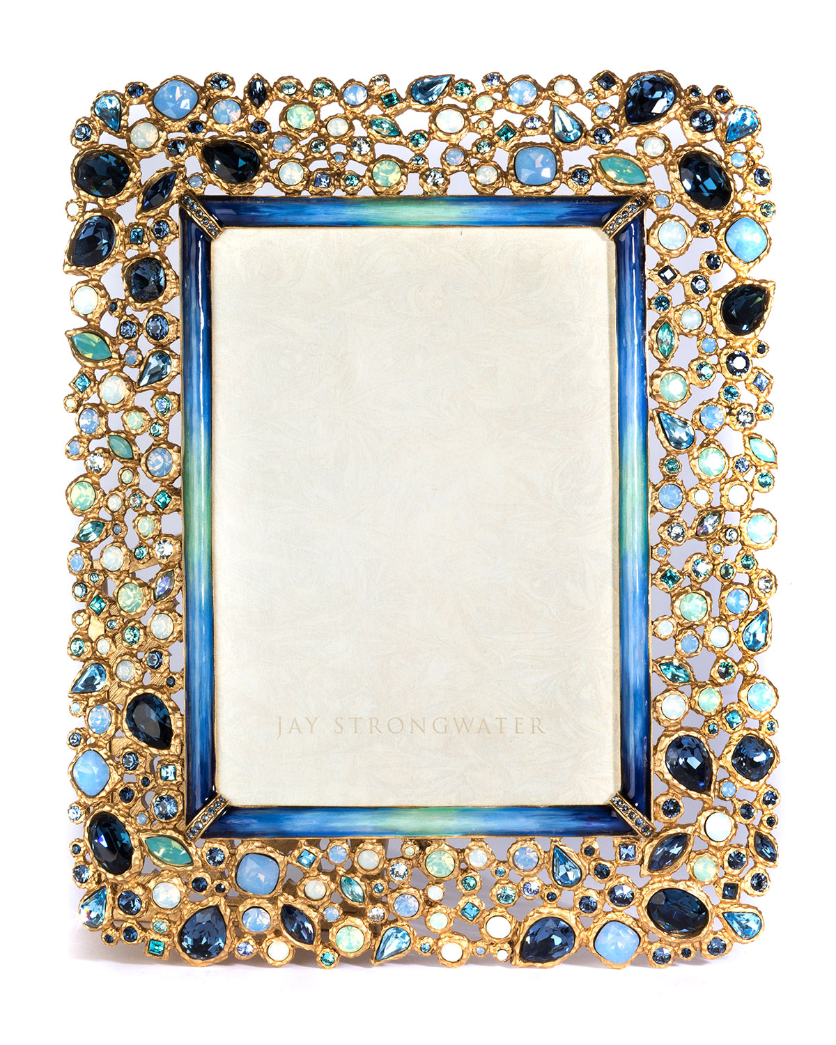 Jay Strongwater Javier Bejeweled Picture Frame, 5\