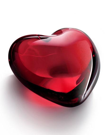 Ruby Puffed Heart