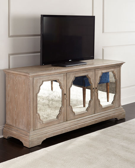 Bernhardt Griffith Mirrored Media Console