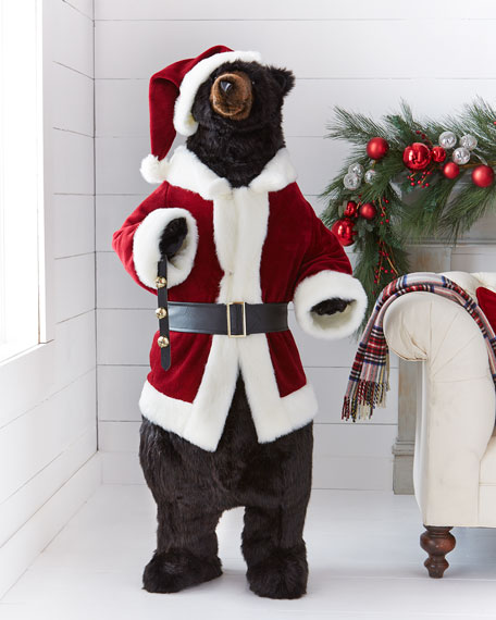 Ditz Designs By The Hen House Santa Black