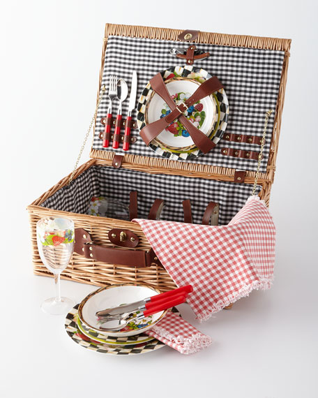 MacKenzie-Childs Berries & Blossoms Picnic Hamper