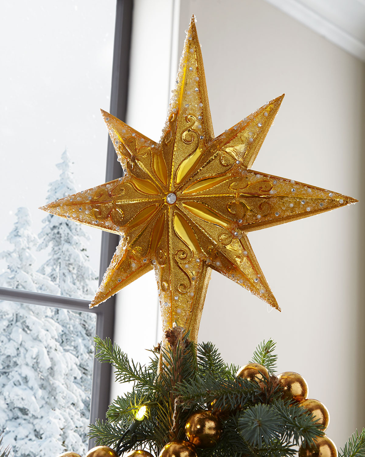 Golden Radiance Christmas Tree Topper