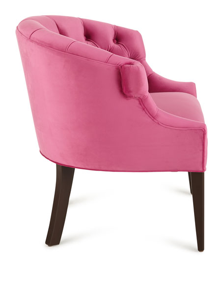 Image 2 of 3: Haute House Melina Tufted-Back Chair, Pink