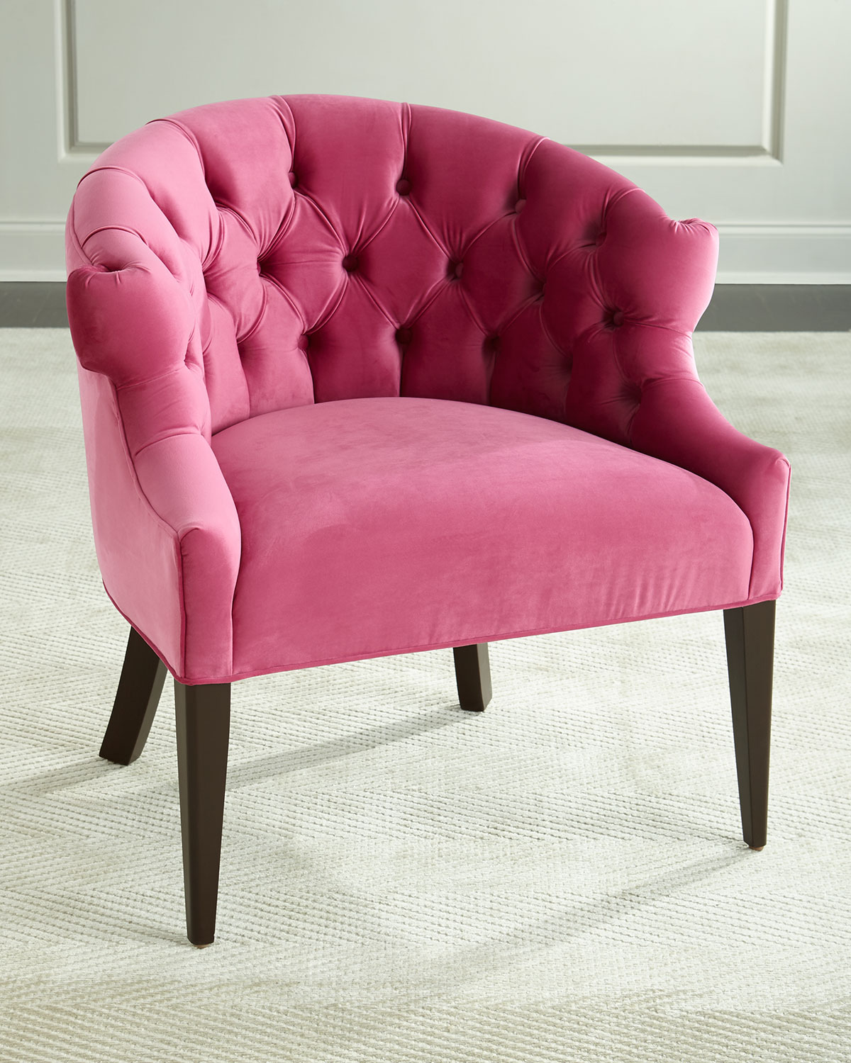 Haute House Melina Tufted-Back Chair, Pink